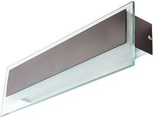 LeArc Designer Lighting Wall Mounted Rectangular Indoor Display Mirror Light Fixture (9.5 x 8 x 9.5cm) - Brown