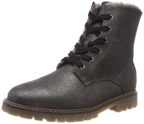Bisgaard Mädchen 51917218 Combat Boots, Schwarz (226 Black Lizzard), 36 EU (Combat Boots Mädchen)