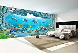 Weaeo 3D Fototapete An Einer Wand Sea World Delphin Aquarium Wohnkultur Wohnzimmer Hintergrund 3D Wandbilder Tapete Für Wände 3D-200X140Cm