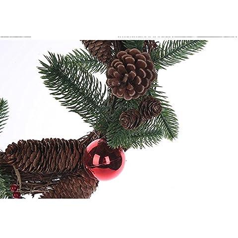 Carino personalizzata Santa Snowman ornamenti di Natale Corona Door Hanger per il Natale di festa vacanza casa Rattan decorazioni d'attaccatura