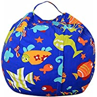 Winthome - Puf de almacenamiento para animales, bolsa de almacenamiento de juguete suave, solución de almacenamiento perfecta