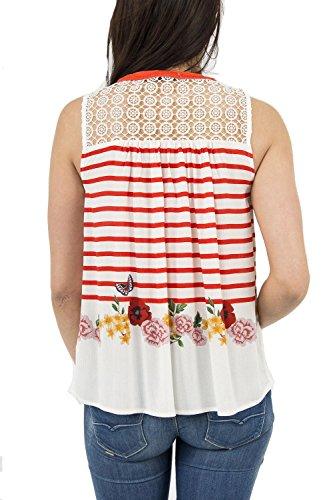 Desigual 18SWBWBO Camicie/Bluse Donna Rosso