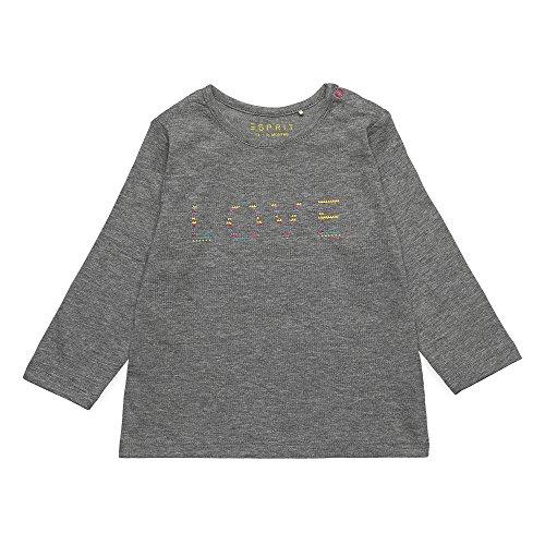 ESPRIT Baby-Mädchen Langarmshirt RK10021, Grau (Mid Heather Grey 260), 86 (Heather Mädchen)