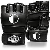 MARTIAL MMA Handschuhe mit hochwertiger Polsterung! Boxhandschuhe für hohe Stabilität im Handgelenk. Freefight Gloves mit langer Haltbarkeit für Kampfsport