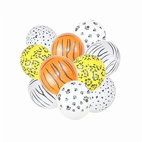 Fannty 10 Stücke Party Luftballons Dekoration Kit, Baby Shower Tier Party Luftballons für Kinder Jungen Mädchen Geburtstag Decor Zoo Themen Party Supplies