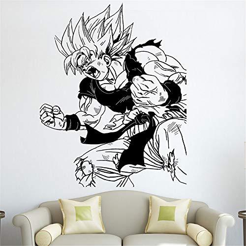 pegatina de pared 3d Dragon Ball Tatuajes de pared Dragon Ball Z Anime Japonés Goku Battles Tatuajes de pared Dormitorio en casa Habitación Juvenil Anime Fans Vinilo Decorativo Etiqueta de la pared