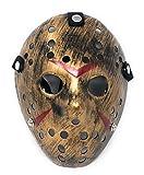 Ultra Doré Adultes Jason Masque Hockey Horreur Halloween Festival de Mascarade vs Party Killer Scary Costume Sangle Elastique Freddy Cosplay