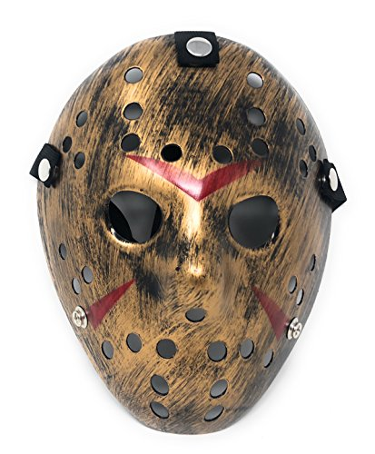 Ultra Gold farbige Fancy Dress Horror Hockey Masken -