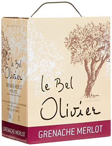 Le Bel Olivier Rouge Grenache & Merlot Bag-in-Box, 2017 trocken (1 x 3,0 l) - Belden-box
