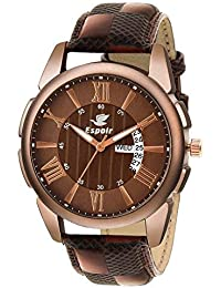 9dd7199f37f Espoir Analogue Brown Dial Day and Date Men s Boy s Watch - Joseph0507