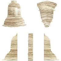 SOCKELLEISTEN Au/ßenecke EICHE PRESTIGE f/ür 52x28mm Sockelleiste Verbinder zum Dekor Lamiat Dekore