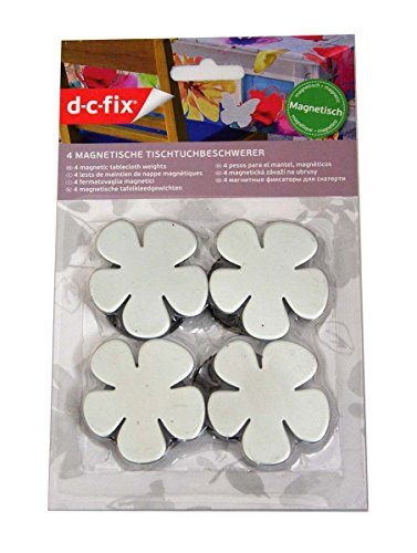 4 Tischtuchbeschwerer / Blumen mit Magnet -