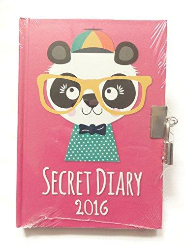 Deals For WTV 2016 Pink Panda Secret Diary A6 Personal Lockable Padlock & Keys Stocking Filler on Amazon