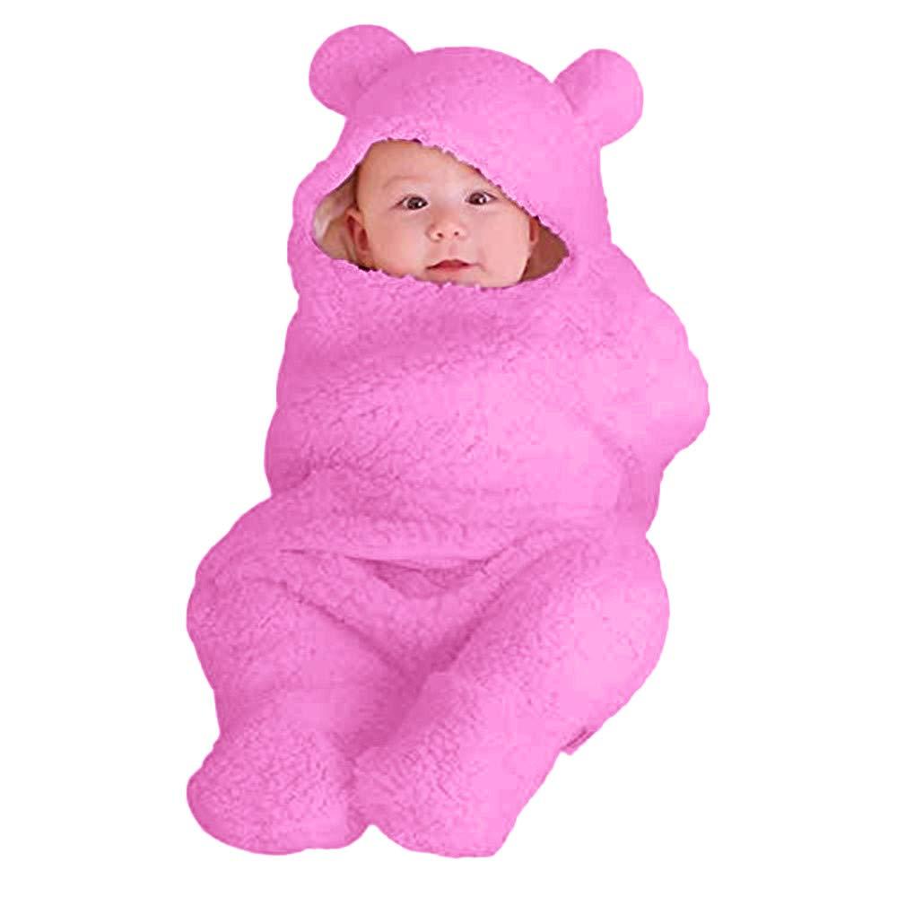 Saco de dormir para bebé recién nacido, manta para envolver al bebé blanco Hot Pink Talla:3,9
