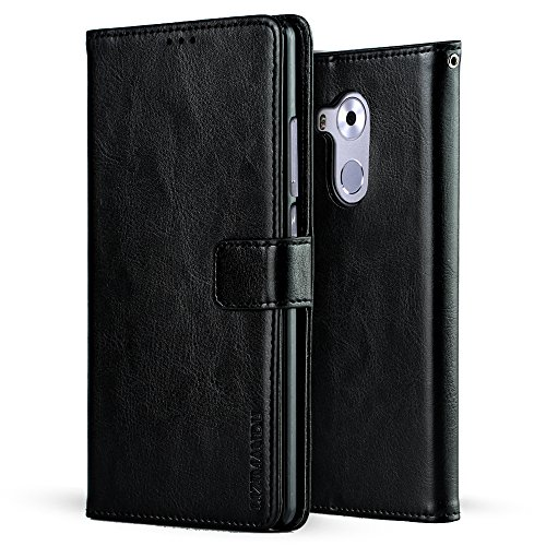 Huawei Mate 8 Funda,Lizimandu Bookstyle PU Billetera Folio Carcasa Piel Flip Wallet Case Cover con Soporte Plegable para Huawei Mate