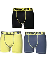 Lot de 3 Boxers Freegun Homme Soft Touch
