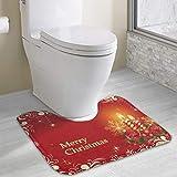 Hoklcvd Toilette personnalisée Personnalisez Vos Photos Toilette Mat en UCartoon Doux Tapis Douche Tapis Salle de Bain
