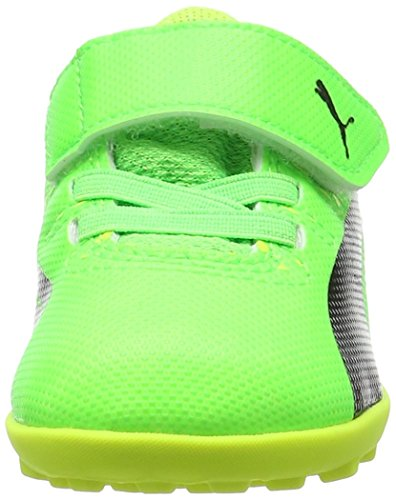 Puma Unisex-Kinder Evopower Vigor 4 Tt V Inf Fußballschuhe Grün (green gecko-puma black-safety yellow 01)