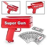Goods & Gadgets Super Money Gun Spielzeug Geld Pistole Party Revolver verschießt Fake Dollar Banknoten für Supreme Fun