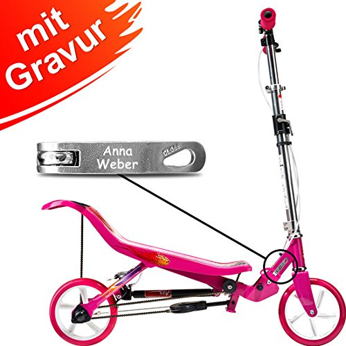 East Side Records GmbH Space Scooter X580 rosa MIT Gravur (z.B. Name)