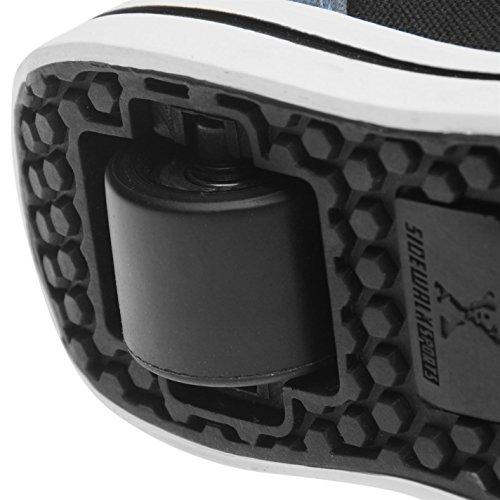 Sidewalk Sport Kinder Jungen Canvas Turnschuhe Rollenschuhe Sneaker Mit Rollen Blau/Schwarz