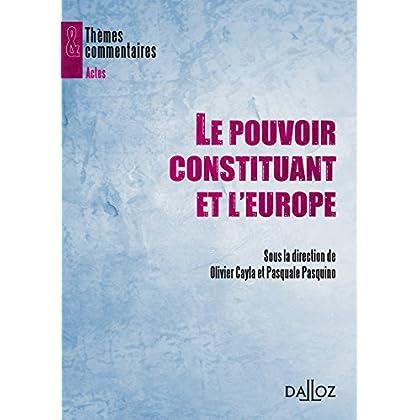 Le pouvoir constituant et l'Europe: Thèmes et commentaires