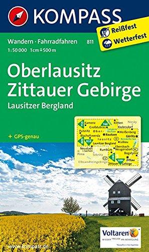 Oberlausitz, Zittauer Gebirge 1 : 50 000 (KOMPASS-Wanderkarten, Band 811)