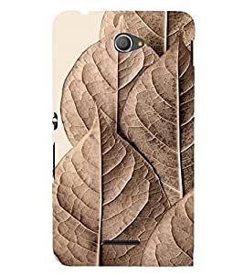 Brown Pattern 3D Hard Polycarbonate Designer Back Case Cover for Sony Xperia E4 Dual