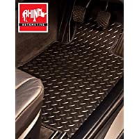 Rhino Automotive Full Leather Look Black /& Red Sport Seat Cover Set RW1499