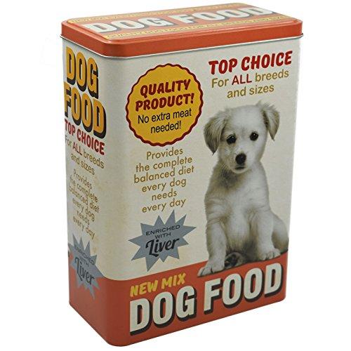 Vorratsdose XL Futterbox für Hunde - Futter aufbewahrung Hundefutter futter container aus Aluminum - mit klappbaren Deckel - 24,8 x 18 x 10 cm - bis zu 4 Liter