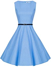 best service dcbdf 2191e Amazon.it: Vestito Celeste: Abbigliamento