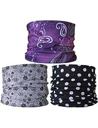 (3 Pack) Multifunctional Headwear. Neck Tubes (Ref F4) Ladies.