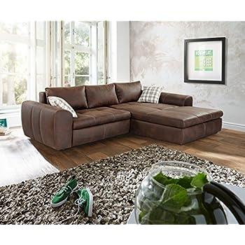 polsterecke luidor braun 290x213 antik optik schlaffunktion ecksofa k che haushalt. Black Bedroom Furniture Sets. Home Design Ideas