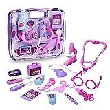 Arztkoffer für Kinder Cherbell Doktorkoffer mit Arzt Zubehör Rollenspiele Spielzeug für Kinder Mädchen ab 3 Jahre