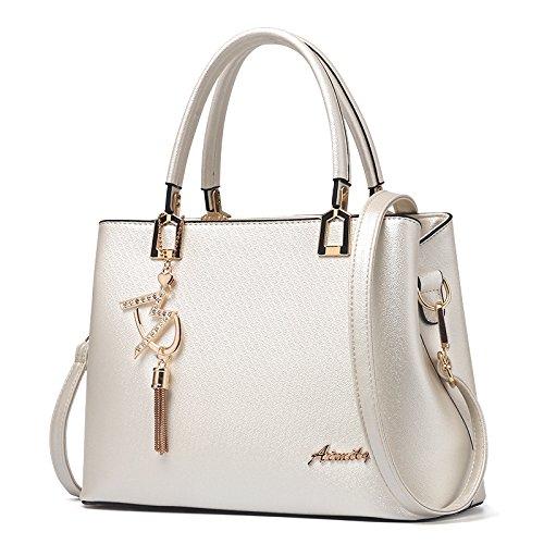 Mode Tasche Mode Neue Ausländische Gas Handtasche Lady Atmosphäre Schulter Messenger Bag Beige -