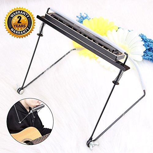 Mundharmonika Halter für 4 10 24 Loch Mundharmonika Hände frei Mundharmonika Hals Halter von OIBTECH (Mundharmonika nicht im Lieferumfang enthalten)
