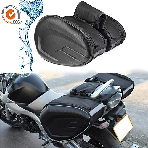 AITOCO Motorrad Satteltaschen Motorrad Koffer wasserdichte Reisegepäck Taschen Erweiterbar Kapazität Helm Essen Trinken Reise Halter