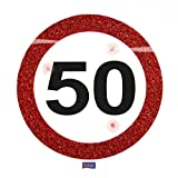Folat Creative Traffic Schild Geburtstag Party blinkende LED-Badge–50. Geb