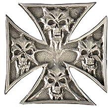 Pin insignia craneo y cruz de malta