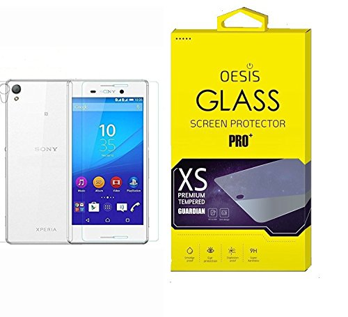 Oesis Front and Back Tempered Glass Screen Protector HD Quality For Sony Xperia M4 Aqua Dual