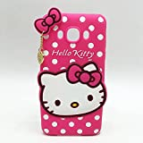 Rapid Zone Cute Hello Kitty Back Cover For Samsung Galaxy On 7 - Pink