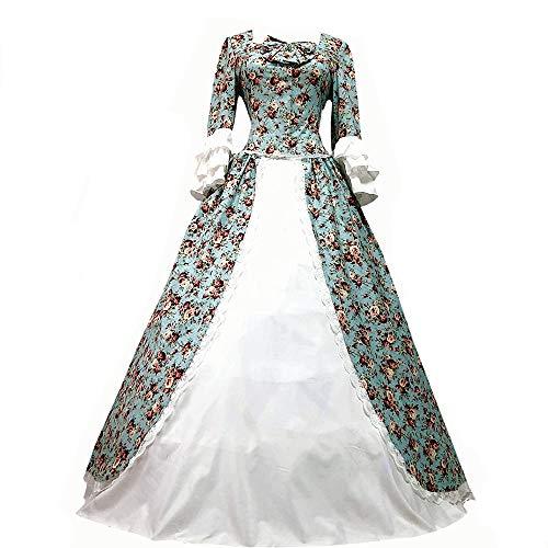 I-Youth Damen Viktorianisches Rokoko-Kleid Civil War Ballkleid Südliche Belle Kostüme - - (Frauen Bürgerkrieg Kostüm)