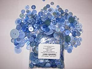 2 x 100g Bags KosiKrafts Art And Crafts BLUE Sewing BUTTONS