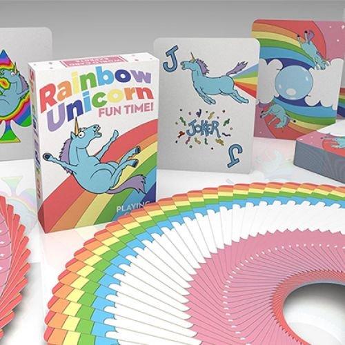 Rainbow Unicorn Fun Time! Deck - Einhorn Spielkarten von Handlordz (Card Playing Fun Decks)
