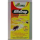 Alfetrap - Trampa adhesiva para cucarachas con pastilla para atraer, paquete de 5piezas