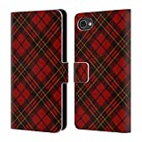 Official PLdesign Red Tartan Christmas Leather Book Wallet