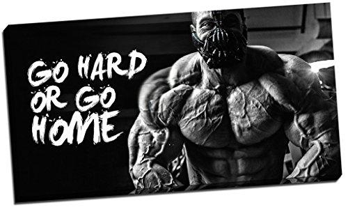 - Motivation Gym Zitat Leinwandbild Go Hard Or Go Home Wand Art Großer 76,2x 40,6cm