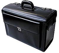 Leather Pilot Case Business Laptop Travel Flight Briefcase Bag Hand Luggage (Pilotcase)