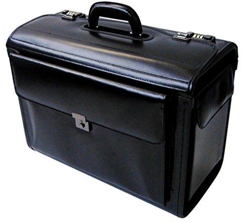 Pilotenkoffer mit Laptopfach - Leder - Handgepäcksgröße