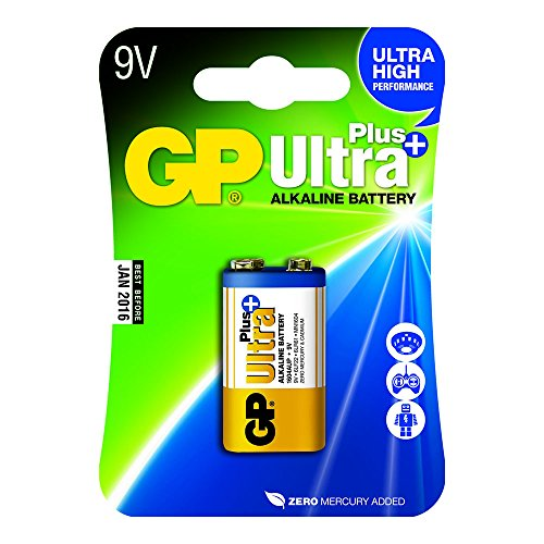 GP Akku Ultra Plus Alkaline (9 Volt E-Block, 6LR61) Ultra Alkaline 9v Batterien